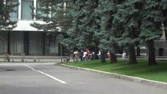"""Flashmob organizat de PAS Youth cu tema """"Colaci pentru socrul mare, Ion Chicu"""""""