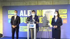 Conferință de presă susținută de candidatul Dreptei la Primăria Municipiului București, Nicușor Dan