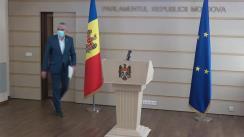 Briefing de presă susținut de Vicepreședintele Parlamentului Republicii Moldova, Alexandru Slusari