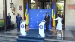 Conferință de presă comună susținută de ministrul afacerilor externe, Bogdan Aurescu și ministrul afacerilor externe al Ucrainei, Dmytro Kuleba