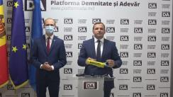 Conferință de presă organizată de Partidul Platforma Demnitate și Adevăr