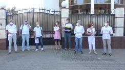 Acțiune de protest organizată de Platforma Națională a Forumului Societății Civile din Parteneriatul Estic pentru a-și exprima solidarizarea cu protestatarii și a condemna abuzurile față de colegii din Platforma Națională din Belarus