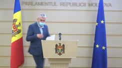 Briefing de presă, susținut de Vicepreședintele Parlamentului Republicii Moldova, Alexandru Slusari