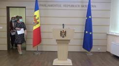 Declarația fracțiunii parlamentare a Partidului Platforma DA în timpul ședinței Parlamentului Republicii Moldova din 11 septembrie 2020