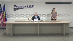 Conferință de presă organizată de Asociația Promo-LEX privind lansarea celui de-al doilea Raport al Misiunii de observare a alegerilor pentru funcția de Președinte al Republicii Moldova din 1 noiembrie 2020