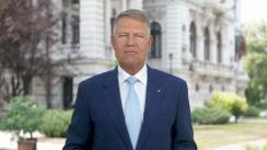 Mesajul Președintelui României, Klaus Iohannis, transmis cu prilejul începerii anului școlar preuniversitar 2020-2021