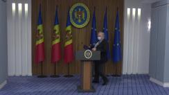 Briefing susținut de ministrul Educației, Culturii și Cercetării, Igor Șarov, despre situația în educație la două săptămâni de la începutul anului de studii