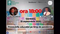 """Dezbatere publică organizată de Institutul """"Pro Vest"""" cu tema """"Provocările educației pe timp de pandemie"""""""