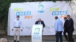 Conferință de presă susținută de Traian Băsescu, candidatul PMP la Primăria Municipiului București