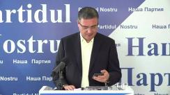 Conferință de presă susținută de candidatul Partidului Nostru la alegerile prezidențiale, Renato Usatîi
