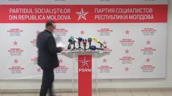 """Conferință de presă susținută de către secretarul executiv al PSRM, Vlad Batrîncea, cu tema """"Inițiativele sociale ale Partidului Socialiștilor"""""""