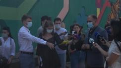 Declarațiile primarului municipiului Chișinău, Ion Ceban, după inaugurarea picturii murale #NeamPornit de la Telecentru