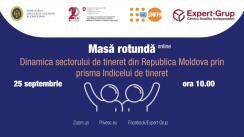 """Masa rotundă online """"Dinamica sectorului de tineret din Republica Moldova prin prisma Indicelui de tineret"""""""