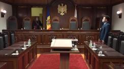 Pronunțarea dispozitivului Avizului la proiectul de lege pentru modificarea și completarea Constituției asupra constituționalității amendamentelor la Constituție care vizează sistemul judecătoresc