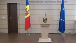 Conferința de presă susținută de către deputații fracțiunii parlamentare ACUM Platforma DA, Dinu Plîngău și Vasile-Andrei Nastase, pe subiectul demiterii lui Anatol Pahopol din funcția de președinte interimar al Consiliului Superior al Magistraturii