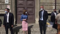Depunerea semnăturilor colectate pentru candidatul Partidului Acțiune și Solidaritate, Maia Sandu