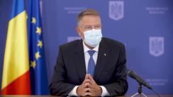 Conferință de presă susținută de Președintele României, domnul Klaus Iohannis