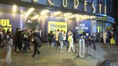 Declarații de presă susținute de Nicușor Dan după închiderea secțiilor de votare