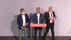 Declarații la sediul Partidului Social Democrat după închiderea secțiilor de votare