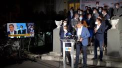 Declarații ale liderilor și candidaților USR PLUS după închiderea secțiilor de votare