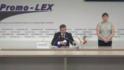 Press conference of Promo-LEX Association dedicated to the presentation of the report no. 3 on the monitoring of the November 1, 2020 Presidential Elections
