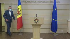 """Briefing de presă susținut de Vicepreședintele Parlamentului Republicii Moldova, Alexandru Slusari, cu tema """"Paralizarea activității Parlamentului"""""""
