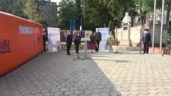 Eveniment de donare a unui lot de echipament pentru crearea centrelor mobile de carantină și triaj COVID-19