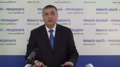 Lansarea în campania electorală pentru alegerile prezidențiale a candidatului Partidului Nostru, Renato Usatîi