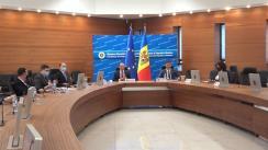 """Conferință de presă susținută de Ministrul afacerilor externe și integrării europene al Republicii Moldova, Oleg Țulea, și președintele Comisiei Electorale Centrale, Dorin Cimil, cu tema """"Alegerile prezidențiale – votul în străinătate"""""""