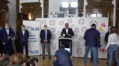 Conferință de presă susținută de președinții partidelor PRO România și ALDE, Victor Ponta și Călin Popescu Tăriceanu