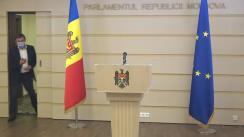 Declarație de presă susținută de Președintele Fracțiunii PAS, Igor Grosu