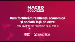 """Conferința internațională MACRO 2020 """"Cum fortificăm reziliența economică și socială față de crize. Lecții învățate din pandemia de COVID-19"""""""