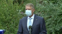 Declarație de presă susținută de Președintele României, domnul Klaus Iohannis, după vizita la Institutul Național de Sănătate Publică