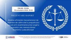 """Prezentarea de către Centrul de Resurse Juridice a raportului """"Cât ne costă justiția întârziată?"""""""