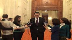 """Declarațiile lui Victor Ponta după dezbaterea """"Ce ne dă natura și cât ne poate lua"""""""