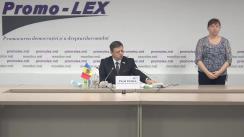 Conferință de presă organizată de Asociația Promo-LEX privind lansarea celui de-al patrulea Raport al Misiunii de observare a alegerilor pentru funcția de Președinte al Republicii Moldova din 1 noiembrie 2020