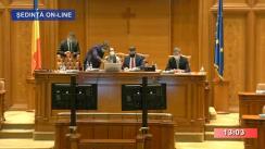 Ședința comună a Camerei Deputaților și Senatului României din 13 octombrie 2020