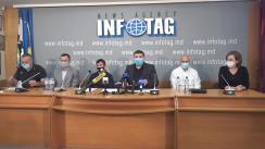 """Conferință de presă organizată de Federația Sportivă Națională de Arte Marțiale Mixte din Republica Moldova cu tema """"Iregularități în activitatea Comitetului Național Olimpic și Sportiv"""""""