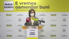 """Conferință de presă susținută de Lidera PAS, Maia Sandu, cu tema """"Locuri de muncă acasă și familii unite - obiectiv național"""""""