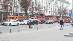 Prezentarea a cinci autospeciale destinate pentru deszăpezirea străzilor și întreținerea infrastructurii rutiere, donate de administrația orașului Moscova, Rusia
