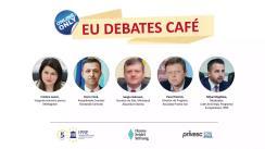 """EU Debates Cafe organizat de Institutul pentru Politici și Reforme Europene cu tema """"Participarea votanților din regiunea transnistreană la alegerile prezidențiale: provocări și soluții"""""""