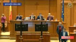 Ședința comună a Senatului și Camerei Deputaților din 20 octombrie 2020