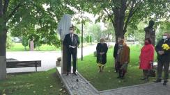Ceremonia de dezvelire a bustului profesorului universitar Roman Coșciug