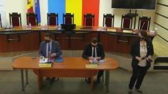 Conferință de presă organizată de Comisia Electorală Centrală dedicată subiectului organizării alegerilor prezidențiale în condiții de pandemie