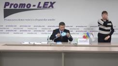 Press conference of Promo-LEX Association dedicated to the presentation of the report no. 5 on the monitoring of the November 1, 2020 Presidential Elections