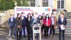 Conferință de presă organizată de USR PLUS București în care vor fi prezentați candidații alianței la alegerile parlamentare