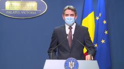 Conferință de presă după Ședința Guvernului României din 22 octombrie 2020