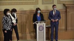 Conferință de presă susținută de Ministrul Educației din România, Monica Anisie
