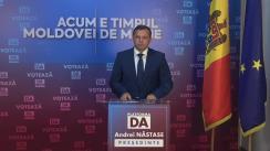 Conferință de presă susținută de Președintele Partidului Platforma Demnitate și Adevăr, Andrei Năstase