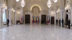 Ceremonia de decorare a domnului Silviu Vexler, deputat - președinte al Grupului Parlamentar România-Israel